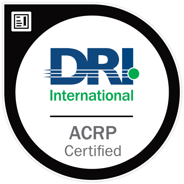 acrp ccrp professional resilience cyber dri certificazioni certified mbcp anz certification associate gerico credly continuity nostro
